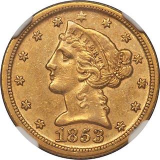 1853-D $5 MS