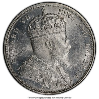 British Colony. Edward VII Dollar 1904-B MS62 PCGS,...