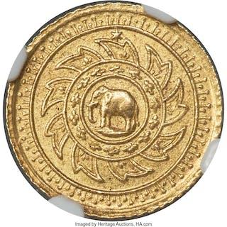 Rama IV gold 2-1/2 Baht (Pat Dueng) ND (1863) MS64 NGC, ...