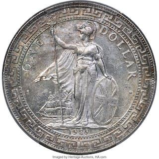 George V Trade Dollar 1929/1-B MS63+ PCGS, ...