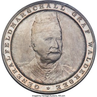 """Prussia. Alfred Graf von Waldersee silver Specimen """"Steamer Sachsen"""""""