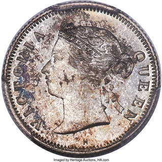 British Colony. Victoria Specimen 5 Cents 1883-H SP67 PCGS,...