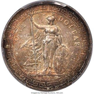 Victoria Trade Dollar 1897-B MS64 PCGS,...