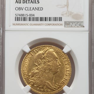 Jose I gold 6400 Reis 1760-R AU Details (Obverse Cleaned) NGC,...