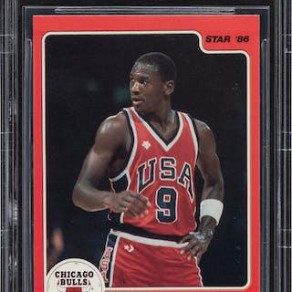 """1986 Star Co. Michael Jordan """"1984 Olympian"""" #3 BGS Gem Mint 9.5."""