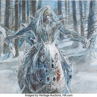 Game of Thrones White Walker Preliminary Concept Painting by William