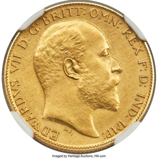 Edward VII 4-Piece Certified gold Matte Proof Set 1902 NGC,... (Total: 4 coins)