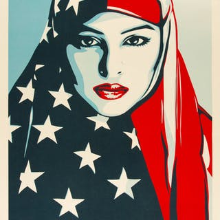 Shepard Fairey (b. 1970) We the People (set of 3), early 21st century