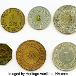 11-Piece Lot of Uncertified Hacienda Tokens,... (Total: 11 coins)