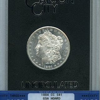 1884-CC S$1 GSA Hoard, PL
