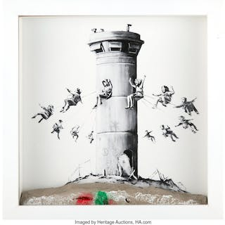 After Banksy Walled Off Hotel Box, 2017 Lithograph with concrete 10