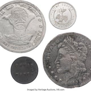 """[William McKinley]: Four Assorted """"Bryan Dollars""""...."""