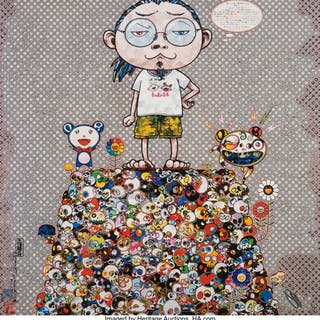 Takashi Murakami (b. 1962) With the Notion of Death, the Flowers Look