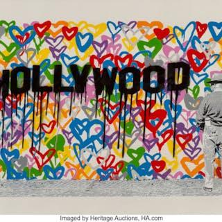 Mr. Brainwash (b. 1966) Hollywood, 2016 Screenprint in colors on wove