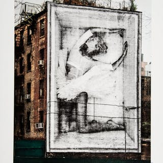 JR (b. 1983) Ballerina in Crate East Village, 2019 Lithograph in colors