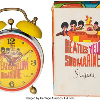 The Beatles Yellow Submarine Alarm Clock by Sheffield With Box & Instructions