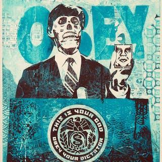 Shepard Fairey (b. 1970) They Live Mondo (Blue), 2011 Screenprint