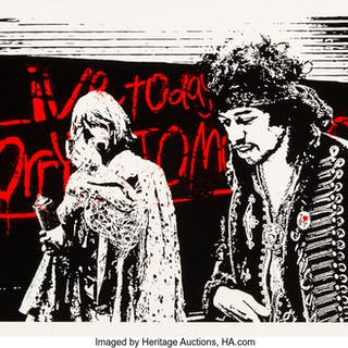 Mr. Brainwash (b. 1966) Live Today Worry Tomorrow, 2010 Screenprint