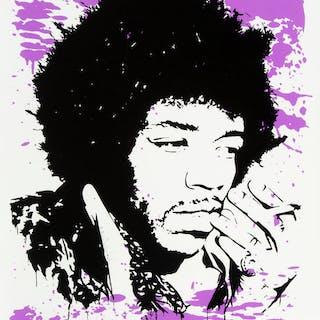 Mr. Brainwash (b. 1966) Jimi Hendrix Purple Haze, 2009 Screenprint