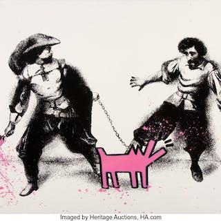 Mr. Brainwash (b. 1966) Watch Out (Pink), 2019 Screenprint in colors