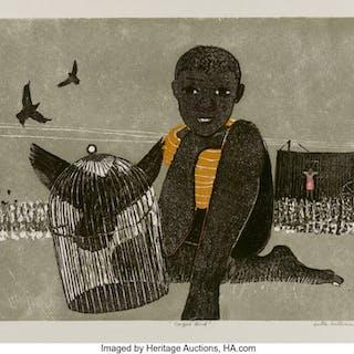 Walter Henry Williams (American/Danish, 1920-1998) Caged Bird, 1966