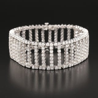 14K 11.55 CTW Diamond Ladder Bracelet