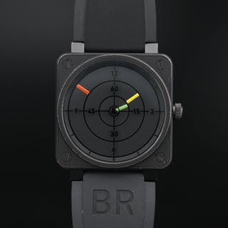 Bell & Ross BR01-92 Radar Stainless Steel and Black PVD Automatic Wristwatch