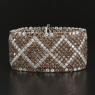 18K 44.22 CTW Diamond Ribbon Bracelet