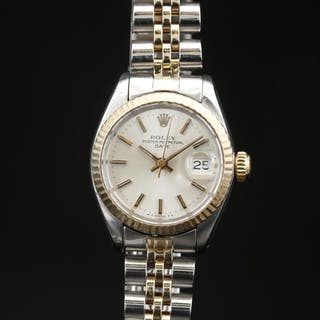 1979 Rolex Date Stainless Steel and 14K Automatic Wristwatch