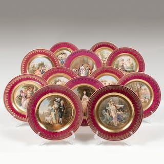 Austrian Gilt Cabinet Plates