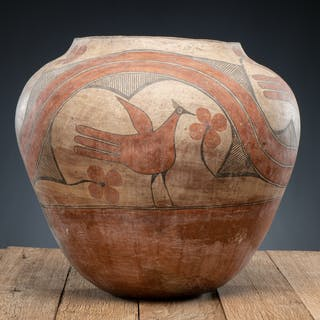 Zia Polychrome Pottery Olla, From the Harriet and Seymour Koenig Collection