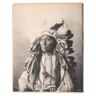 F.A. Rinehart, Three Platinum Photographs Featuring Cheyenne and Sioux Subjects