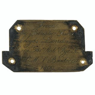 959d16e99f Engraved Plaque for a Cased Lloyds of London Sword Presented to Lt.