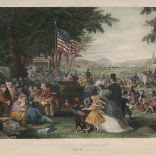 after Frederick Augustus Chapman (American, 1818-1891) Hand-Colored Engraving
