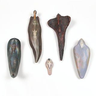 Gary Spinosa (American, b. 1947) Ceramic Fetishes