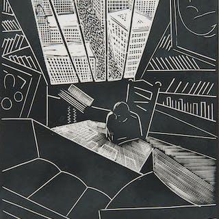 Wharton Harris Esherick (American, 1887-1970) Woodcuts, Lot of Three