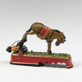J. & E. Stevens, J. & E. Stevens 'Spise a Mule Bench Mechanical Bank