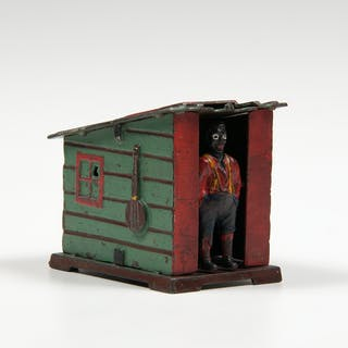 J. & E. Stevens, J. & E. Stevens Green Cabin Mechanical Bank