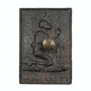 "Aboltion/Anti-Slavery ""Humanity"" Cast Iron Tobacco Box"