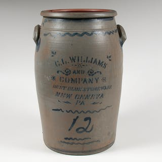 C.L. Williams & Co. C.L. Williams & Co. Twelve-Gallon Stoneware Crock