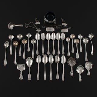 18th-19th Century British Sterling Flatware and Tablewares, Plus