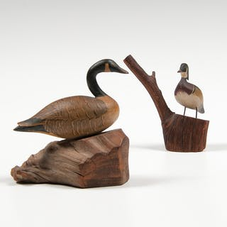 Russ Burr (American, 1887-1955) Miniature Decoys