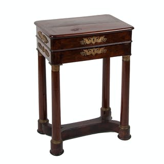 Empire Sewing Stand in Mahogany
