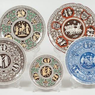Copeland Spode Greek, Copeland Spode Greek Pattern Plates