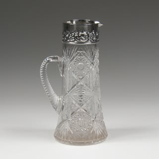 Dominick & Haff, Dominick & Haff Sterling and Brilliant Cut Glass Pitcher