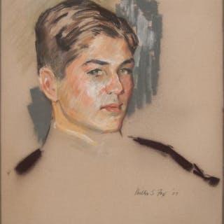 Milton S. Fox (American, 1904-1971) Pastel