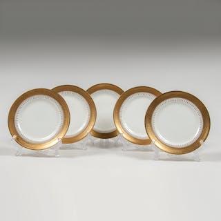 Royal Doulton, Royal Doulton for Tiffany Gilt-Edge Bread Plates, Tiffany