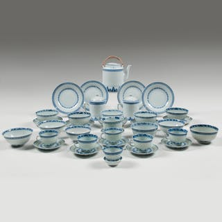 Chinese Rice Grain Blue and White Porcelain