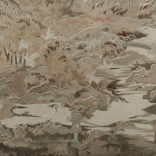 Chinese Silk Embroidery Scene