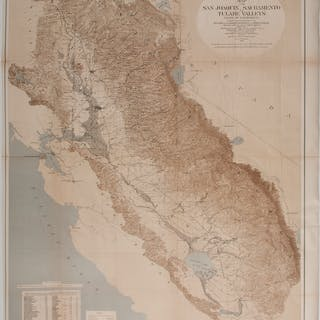 1873 Map of the San Joaquin, Sacramento, and Tulare Valleys, 1873